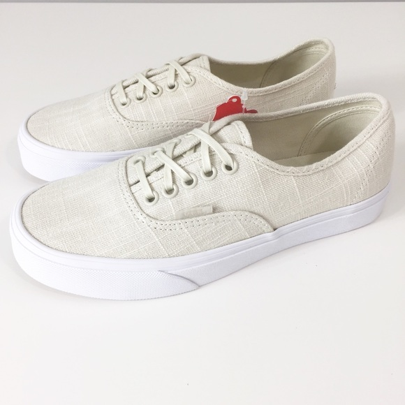 Vans Authentic Hemp Linen Turtle Dove Sneakers Sz8 5016028a37
